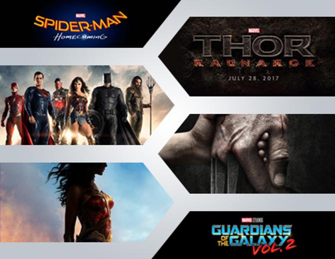 Disney, 20th Century Fox, Sony Pictures, DC, Marvel